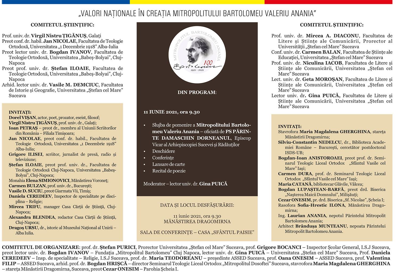 Valori naționale în creația Mitropolitului Bartolomeu Valeriu Anania (2021)
